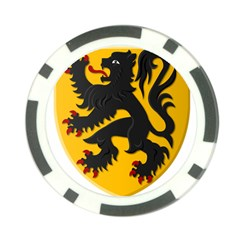 Flanders Coat Of Arms  Poker Chip Card Guards (10 Pack)