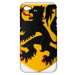 Flanders Coat Of Arms  Apple Iphone 4/4s Hardshell Case (pc+silicone)