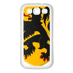 Flanders Coat Of Arms  Samsung Galaxy S3 Back Case (white)