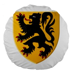 Flanders Coat Of Arms  Large 18  Premium Flano Round Cushions