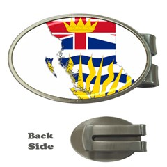 Flag Map Of British Columbia Money Clips (oval)