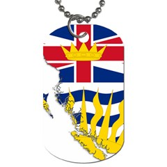 Flag Map Of British Columbia Dog Tag (two Sides)