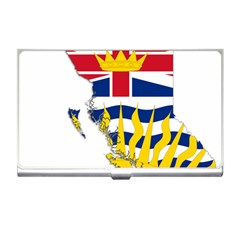 Flag Map Of British Columbia Business Card Holders