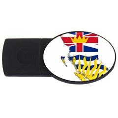 Flag Map Of British Columbia Usb Flash Drive Oval (4 Gb)