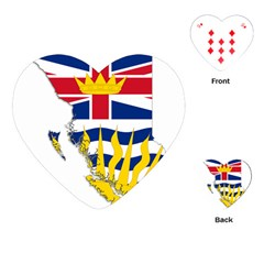 Flag Map Of British Columbia Playing Cards (heart)