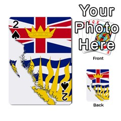 Flag Map Of British Columbia Playing Cards 54 Designs