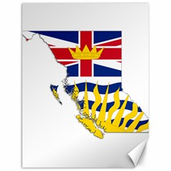 Flag Map Of British Columbia Canvas 12  X 16