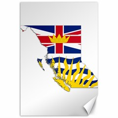Flag Map Of British Columbia Canvas 12  X 18