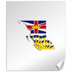 Flag Map Of British Columbia Canvas 20  X 24