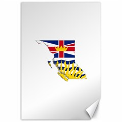 Flag Map Of British Columbia Canvas 20  X 30