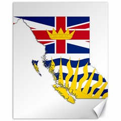 Flag Map Of British Columbia Canvas 11  X 14