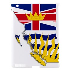 Flag Map Of British Columbia Apple Ipad 3/4 Hardshell Case (compatible With Smart Cover)