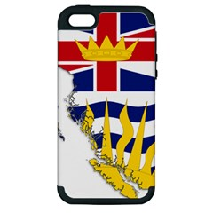 Flag Map Of British Columbia Apple Iphone 5 Hardshell Case (pc+silicone)