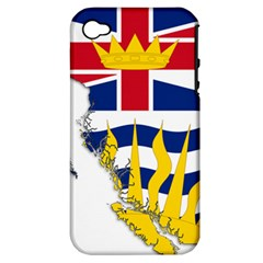 Flag Map Of British Columbia Apple Iphone 4/4s Hardshell Case (pc+silicone)