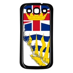 Flag Map Of British Columbia Samsung Galaxy S3 Back Case (black)