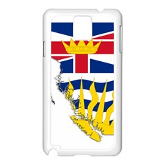 Flag Map Of British Columbia Samsung Galaxy Note 3 N9005 Case (white)