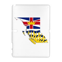Flag Map Of British Columbia Samsung Galaxy Note 10 1 (p600) Hardshell Case