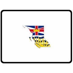 Flag Map Of British Columbia Double Sided Fleece Blanket (large)
