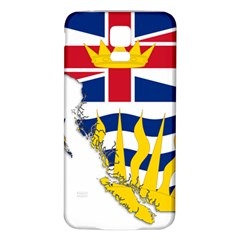 Flag Map Of British Columbia Samsung Galaxy S5 Back Case (white)