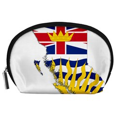 Flag Map Of British Columbia Accessory Pouches (large)