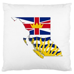 Flag Map Of British Columbia Standard Flano Cushion Case (one Side)