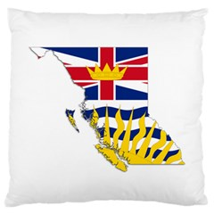 Flag Map Of British Columbia Large Flano Cushion Case (two Sides)