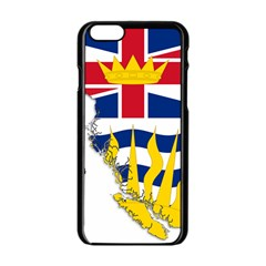 Flag Map Of British Columbia Apple Iphone 6/6s Black Enamel Case