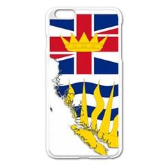 Flag Map Of British Columbia Apple Iphone 6 Plus/6s Plus Enamel White Case