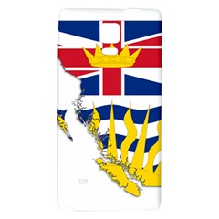 Flag Map Of British Columbia Galaxy Note 4 Back Case