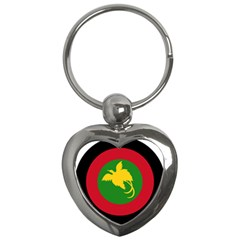 Roundel Of Papua New Guinea Air Operations Element Key Chains (heart)