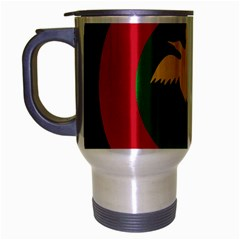 Roundel Of Papua New Guinea Air Operations Element Travel Mug (silver Gray)
