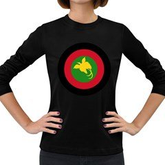 Roundel Of Papua New Guinea Air Operations Element Women s Long Sleeve Dark T Shirts