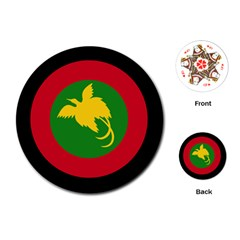 Roundel Of Papua New Guinea Air Operations Element Playing Cards (round)