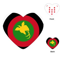 Roundel Of Papua New Guinea Air Operations Element Playing Cards (heart)