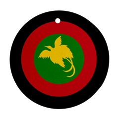 Roundel Of Papua New Guinea Air Operations Element Round Ornament (two Sides)