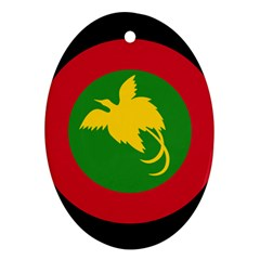 Roundel Of Papua New Guinea Air Operations Element Oval Ornament (two Sides)
