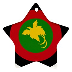 Roundel Of Papua New Guinea Air Operations Element Star Ornament (two Sides)