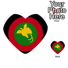 Roundel Of Papua New Guinea Air Operations Element Multi Purpose Cards (heart)