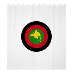 Roundel Of Papua New Guinea Air Operations Element Shower Curtain 66  X 72  (large)