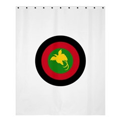 Roundel Of Papua New Guinea Air Operations Element Shower Curtain 60  X 72  (medium)