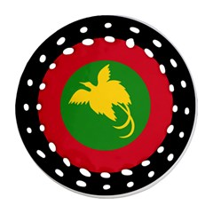 Roundel Of Papua New Guinea Air Operations Element Round Filigree Ornament (2side)