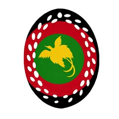 Roundel Of Papua New Guinea Air Operations Element Oval Filigree Ornament (2 Side)