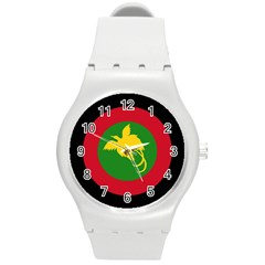 Roundel Of Papua New Guinea Air Operations Element Round Plastic Sport Watch (m)