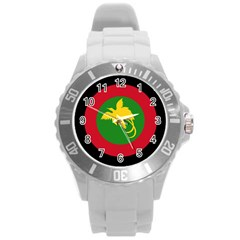 Roundel Of Papua New Guinea Air Operations Element Round Plastic Sport Watch (l)