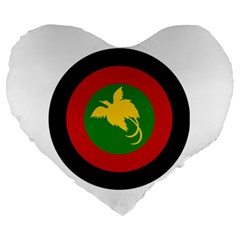 Roundel Of Papua New Guinea Air Operations Element Large 19  Premium Heart Shape Cushions