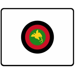 Roundel Of Papua New Guinea Air Operations Element Double Sided Fleece Blanket (medium)