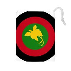 Roundel Of Papua New Guinea Air Operations Element Drawstring Pouches (large)