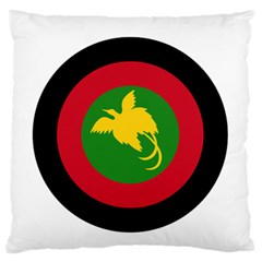 Roundel Of Papua New Guinea Air Operations Element Large Flano Cushion Case (one Side)
