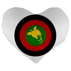 Roundel Of Papua New Guinea Air Operations Element Large 19  Premium Flano Heart Shape Cushions