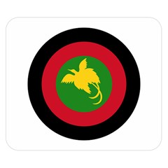 Roundel Of Papua New Guinea Air Operations Element Double Sided Flano Blanket (small)